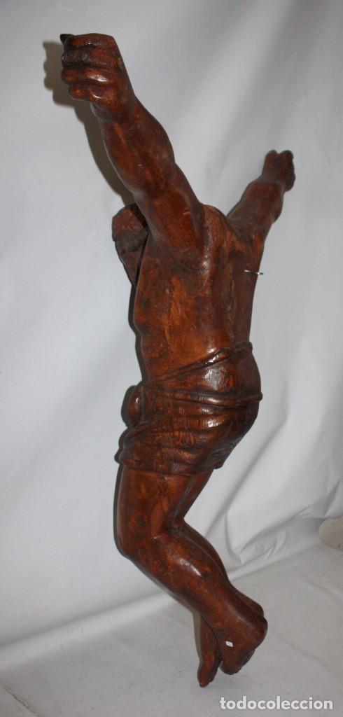 Antigüedades: IMPRESIONANTE CRISTO - ARTE POPULAR - 1O9 CM - ESCUELA ARAGONESA. - Foto 4 - 194354903