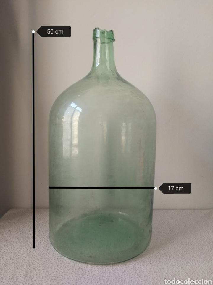 RARA Y DIFÍCIL GARRAFA DE MEDICINA O LABORATORIO CIENTÍFICO. 50 CM. DE ALTURA. (Antigüedades - Cristal y Vidrio - Farmacia )