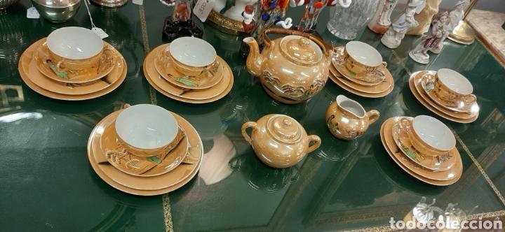 JUEGO DE TE ORIENTAL SATSUMA (Antigüedades - Porcelana y Cerámica - Japón)