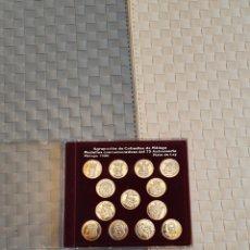Antigüedades: AGRUPACIÓN DE COFRADÍA DE MÁLAGA MEDALLAS CONMEMORATIVAS DE 75 ANIVERSARIO MALAGA 1996 PLATA DE LEY. Lote 194368130