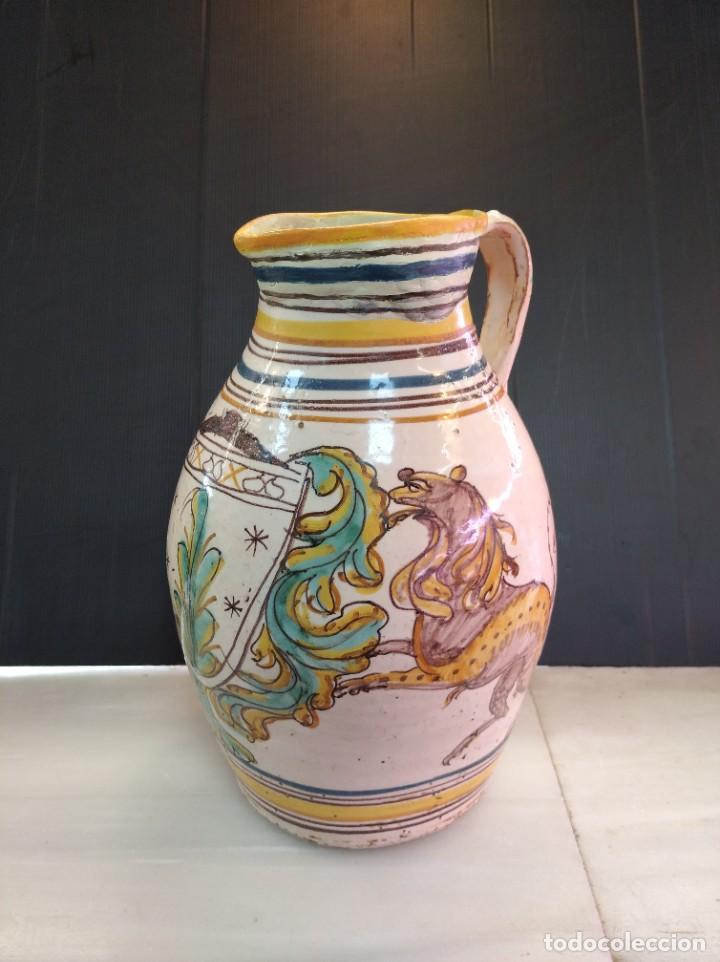 PUENTE DEL ARZOBISPO, SOBERBIA JARRA SÍGLO XVIII (Antigüedades - Porcelanas y Cerámicas - Puente del Arzobispo )