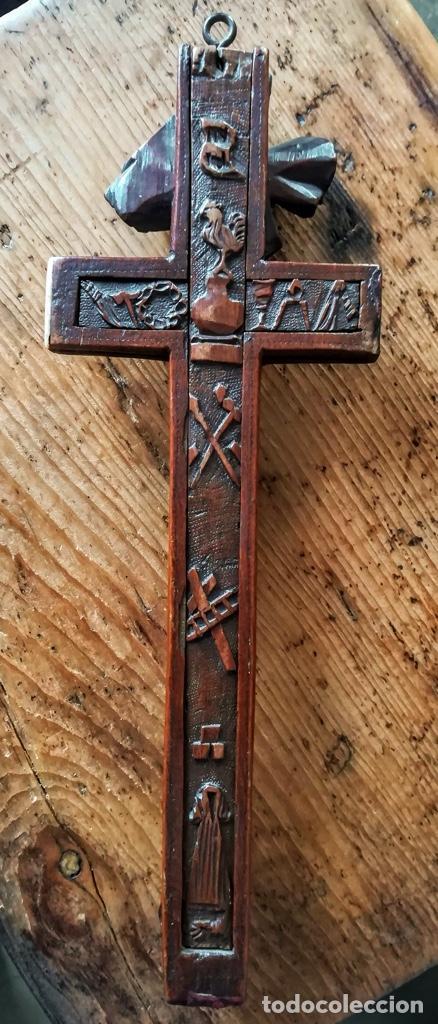Antigüedades: Crucifijo relicario de finales del 18 - Foto 9 - 194373700