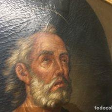 Antigüedades: PINTURA ESPAÑOLA. SAN PEDRO. OLEO SOBRE LIENZO. Lote 194382602