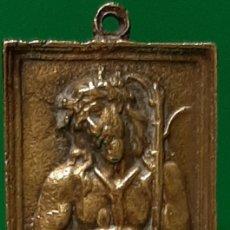 Antigüedades: ECCE HOMO. ANTIGUA PLACA DEVOCIONAL DE BRONCE.. Lote 194385046