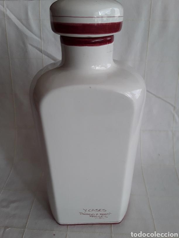 Antigüedades: Maravilloso y amtiguo frasco de agua de rosas porcelana de manises gran formato - Foto 2 - 194389260