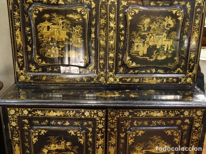Antigüedades: Cabinet Chino, S.XVIII, lacado y dorado - Foto 7 - 194392393