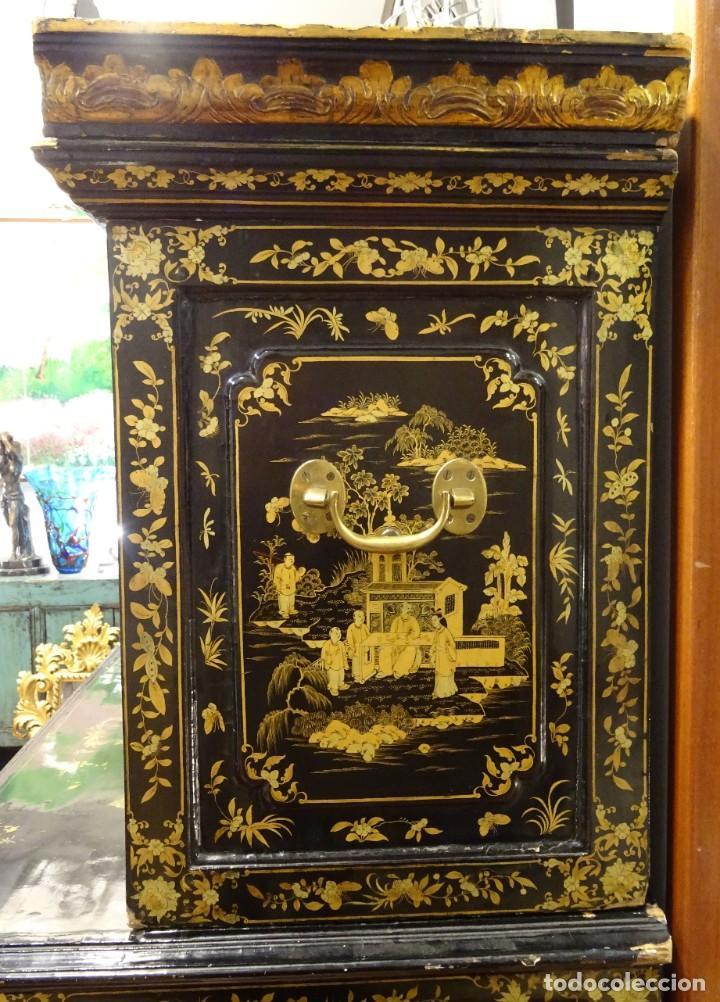 Antigüedades: Cabinet Chino, S.XVIII, lacado y dorado - Foto 13 - 194392393
