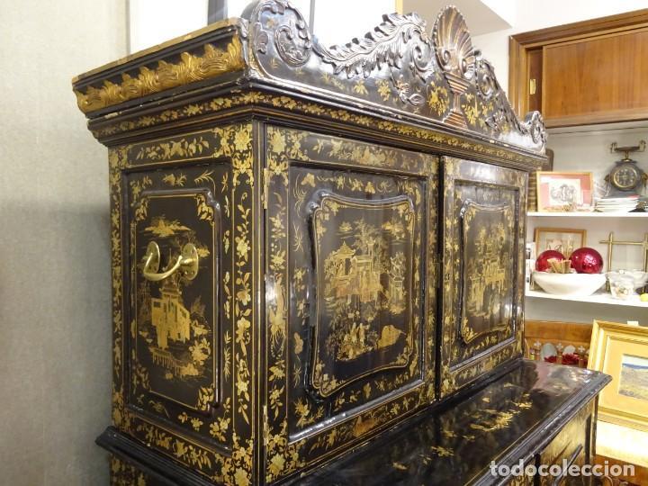 Antigüedades: Cabinet Chino, S.XVIII, lacado y dorado - Foto 15 - 194392393