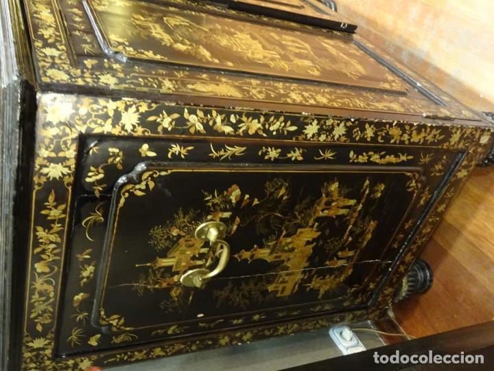 Antigüedades: Cabinet Chino, S.XVIII, lacado y dorado - Foto 17 - 194392393