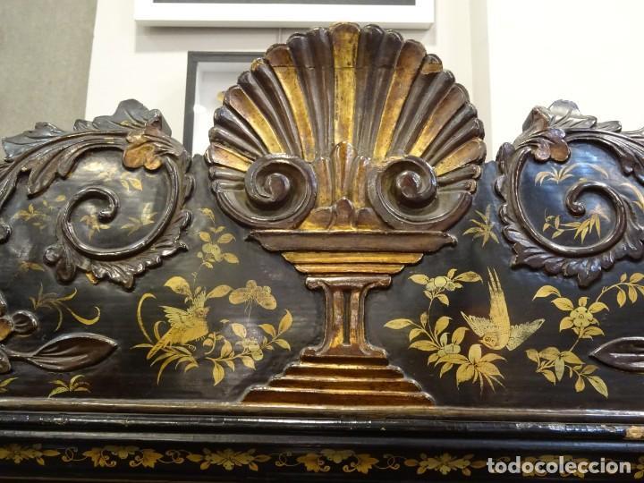 Antigüedades: Cabinet Chino, S.XVIII, lacado y dorado - Foto 18 - 194392393