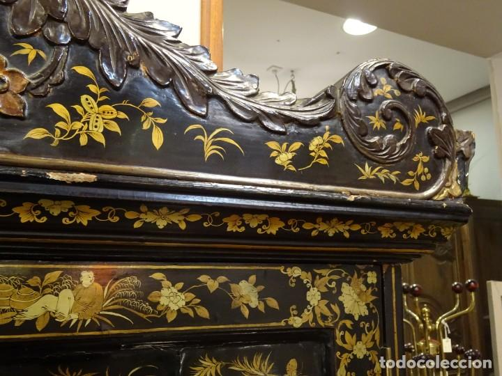 Antigüedades: Cabinet Chino, S.XVIII, lacado y dorado - Foto 19 - 194392393