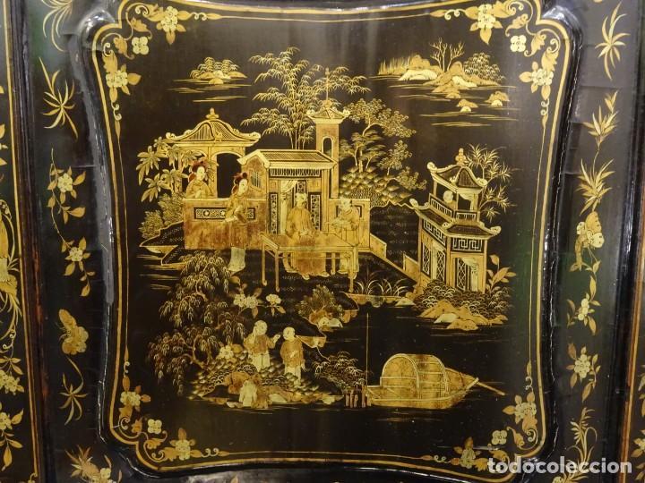 Antigüedades: Cabinet Chino, S.XVIII, lacado y dorado - Foto 21 - 194392393