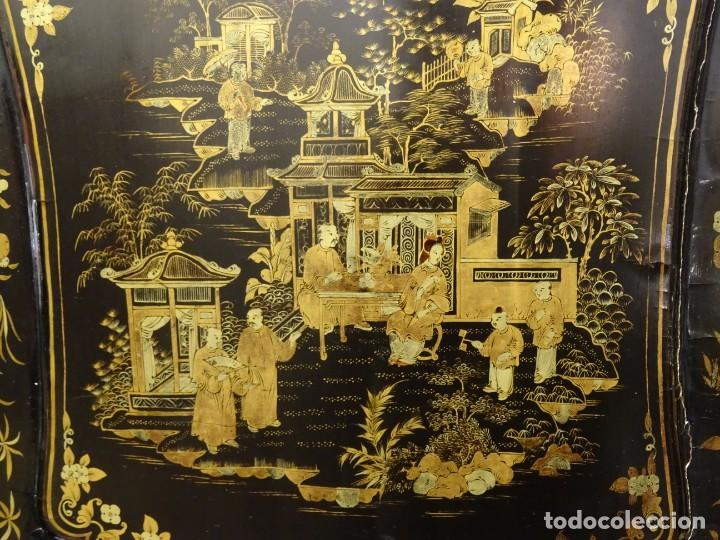 Antigüedades: Cabinet Chino, S.XVIII, lacado y dorado - Foto 23 - 194392393