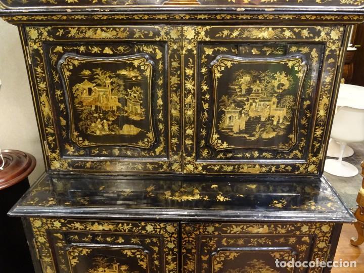 Antigüedades: Cabinet Chino, S.XVIII, lacado y dorado - Foto 25 - 194392393