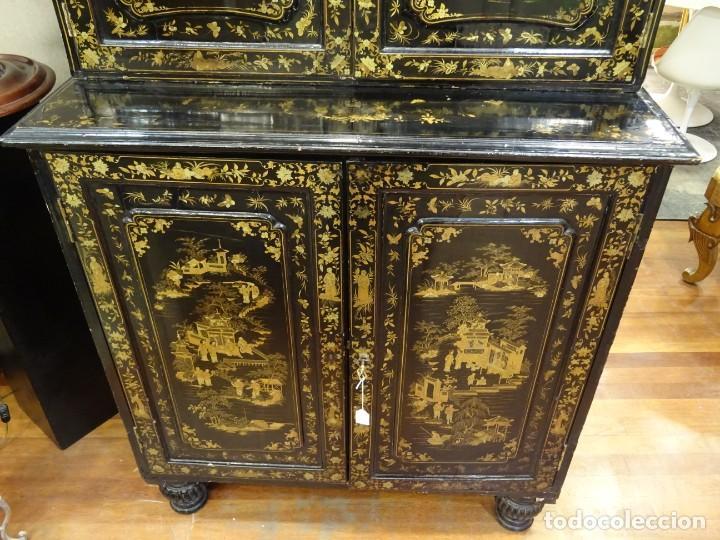 Antigüedades: Cabinet Chino, S.XVIII, lacado y dorado - Foto 26 - 194392393