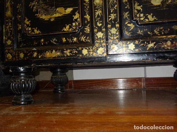 Antigüedades: Cabinet Chino, S.XVIII, lacado y dorado - Foto 33 - 194392393