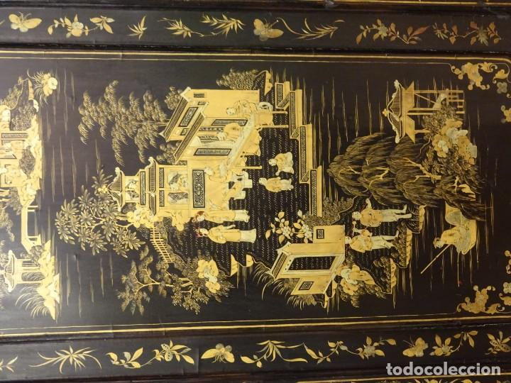 Antigüedades: Cabinet Chino, S.XVIII, lacado y dorado - Foto 38 - 194392393
