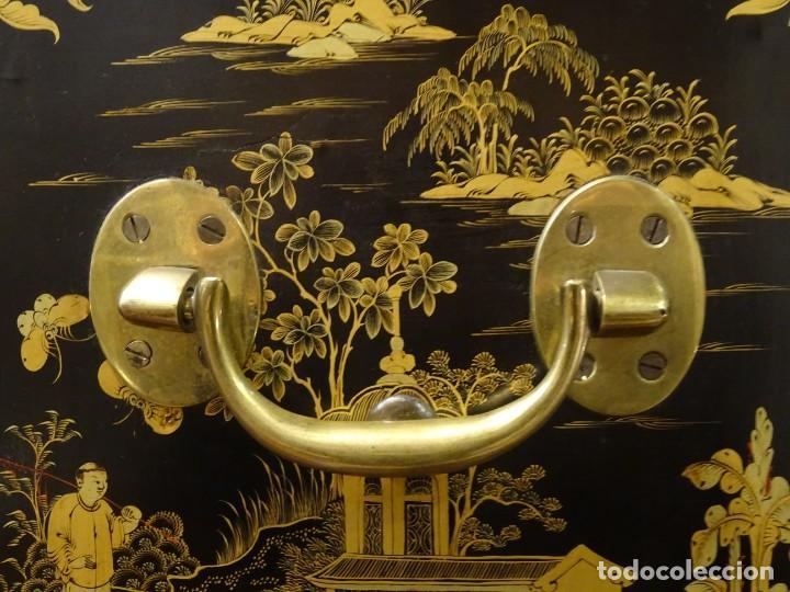 Antigüedades: Cabinet Chino, S.XVIII, lacado y dorado - Foto 39 - 194392393