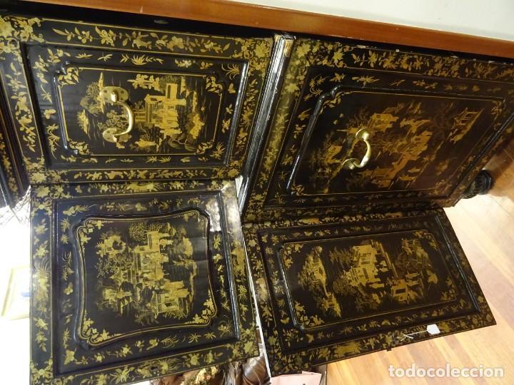 Antigüedades: Cabinet Chino, S.XVIII, lacado y dorado - Foto 43 - 194392393