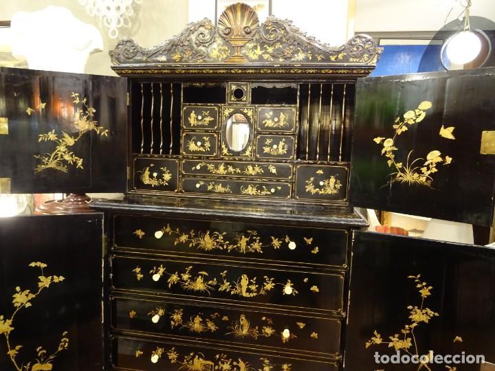 Antigüedades: Cabinet Chino, S.XVIII, lacado y dorado - Foto 47 - 194392393