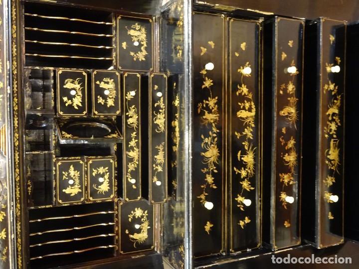 Antigüedades: Cabinet Chino, S.XVIII, lacado y dorado - Foto 59 - 194392393