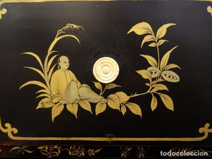 Antigüedades: Cabinet Chino, S.XVIII, lacado y dorado - Foto 62 - 194392393