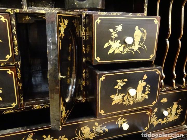 Antigüedades: Cabinet Chino, S.XVIII, lacado y dorado - Foto 63 - 194392393