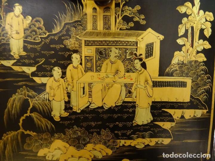 Antigüedades: Cabinet Chino, S.XVIII, lacado y dorado - Foto 67 - 194392393