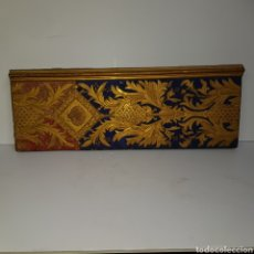 Antigüedades: PLAFON POLICROMADO EN PAN DE ORO. Lote 194401435