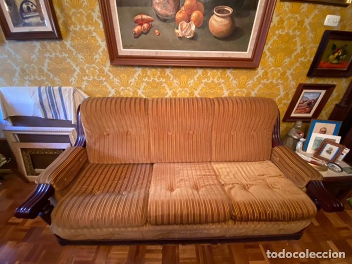 Antigüedades: Sofá + Sillones de Madera Antiguos - Foto 5 - 194402045