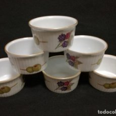 Antigüedades: 6 CUENCOS DE PORCELANA - ROYAL WORCESTER EVESHAM - SHAPE 48 SIZE 00 - MADE IN ENGLAND. Lote 194402211