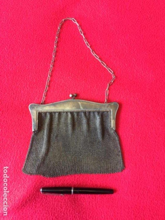 Antigüedades: Bolso antiguo de malla - Foto 2 - 194403230