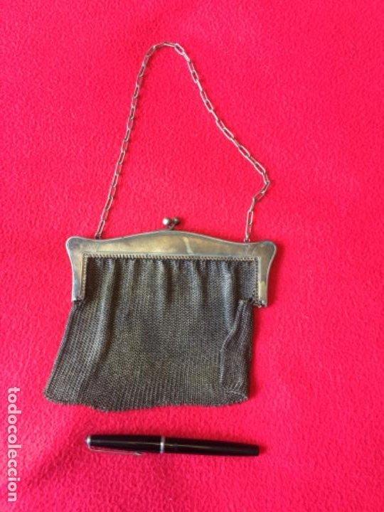 Antigüedades: Bolso antiguo de malla - Foto 3 - 194403230