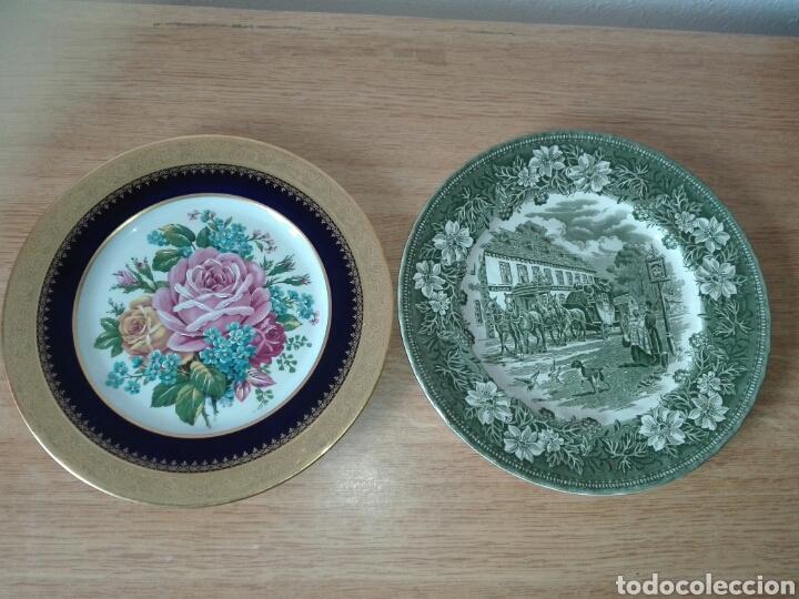 2 PLATOS DE PORCELANA. (Antigüedades - Porcelana y Cerámica - Francesa - Limoges)