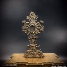 Antigüedades: RELICARIO DE ALTAR. PLATA. SAN PASCUAL BAILÓN. S.XVIII.. Lote 194404020
