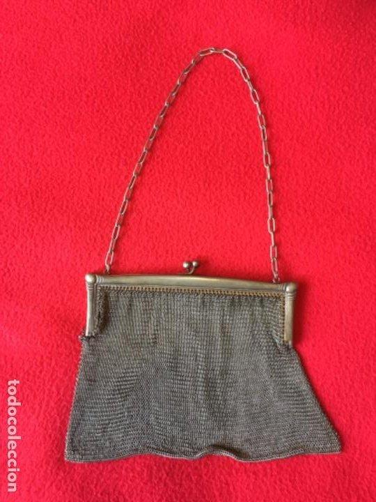 BOLSO DE MALLA GRANDE ANTIGUO (Antigüedades - Moda - Bolsos Antiguos)
