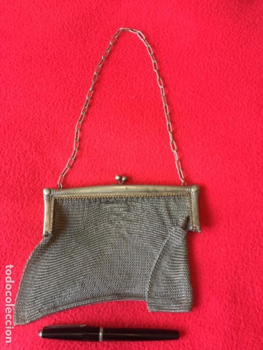 Antigüedades: Bolso de Malla grande antiguo - Foto 3 - 194404028