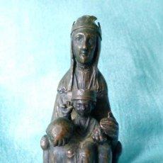 Antigüedades: ANTIGUA VIRGEN DE MONTSERRAT DE METAL. Lote 194405410