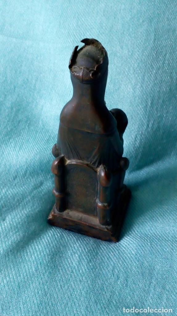 Antigüedades: ANTIGUA VIRGEN DE MONTSERRAT DE METAL - Foto 2 - 194405410