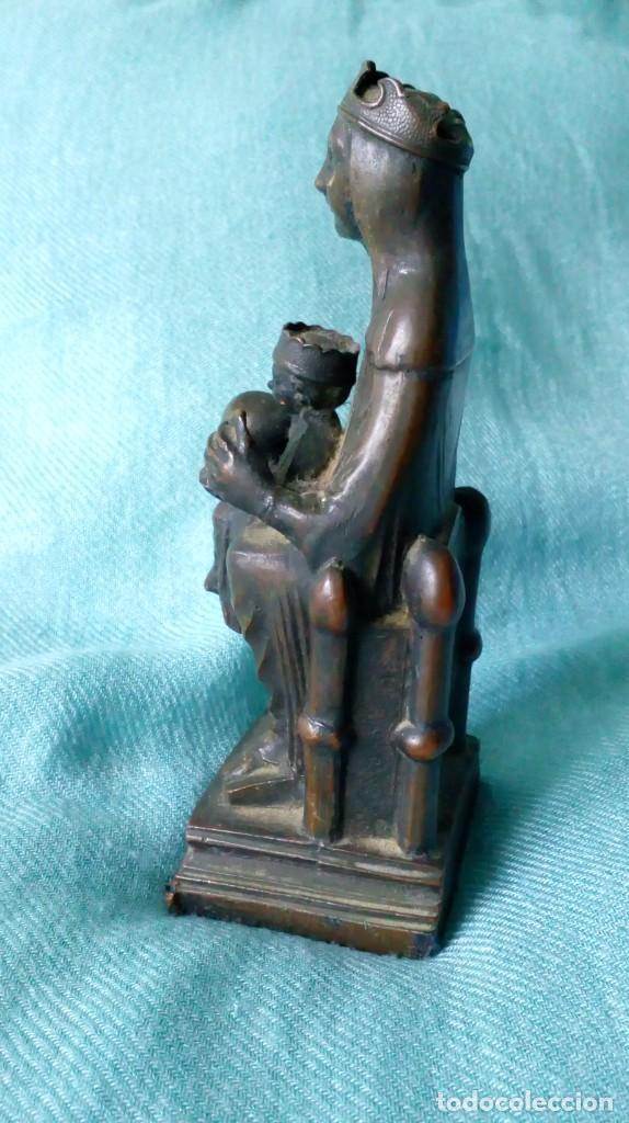 Antigüedades: ANTIGUA VIRGEN DE MONTSERRAT DE METAL - Foto 4 - 194405410