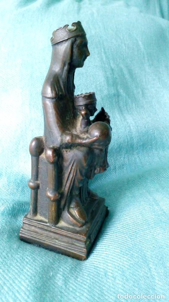 Antigüedades: ANTIGUA VIRGEN DE MONTSERRAT DE METAL - Foto 5 - 194405410
