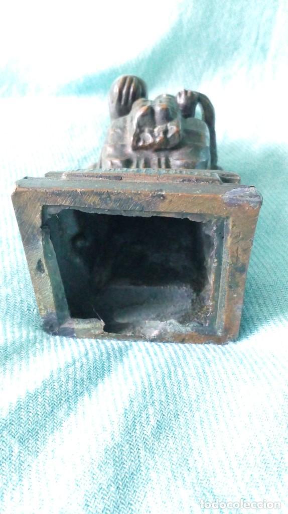 Antigüedades: ANTIGUA VIRGEN DE MONTSERRAT DE METAL - Foto 8 - 194405410