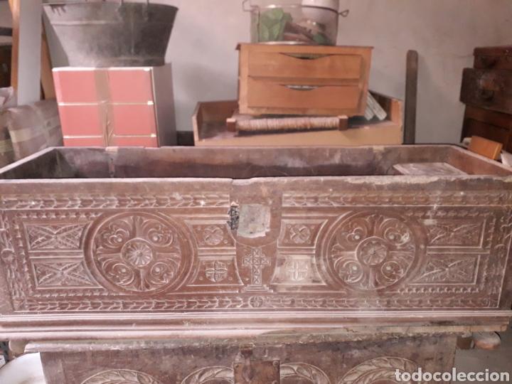 Antigüedades: Arcas vasco navarras siglo XVII - Foto 2 - 194406318