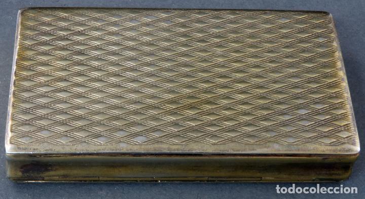 Antigüedades: Caja pastillero en plata dorada cincelada siglo XIX - Foto 4 - 194406716