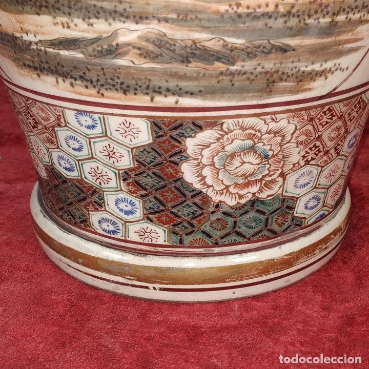 Antigüedades: GRAN JARRÓN SATSUMA. PORCELANA ESMALTADA Y DORADA. JAPÓN. SIGLO XIX - Foto 23 - 183898196