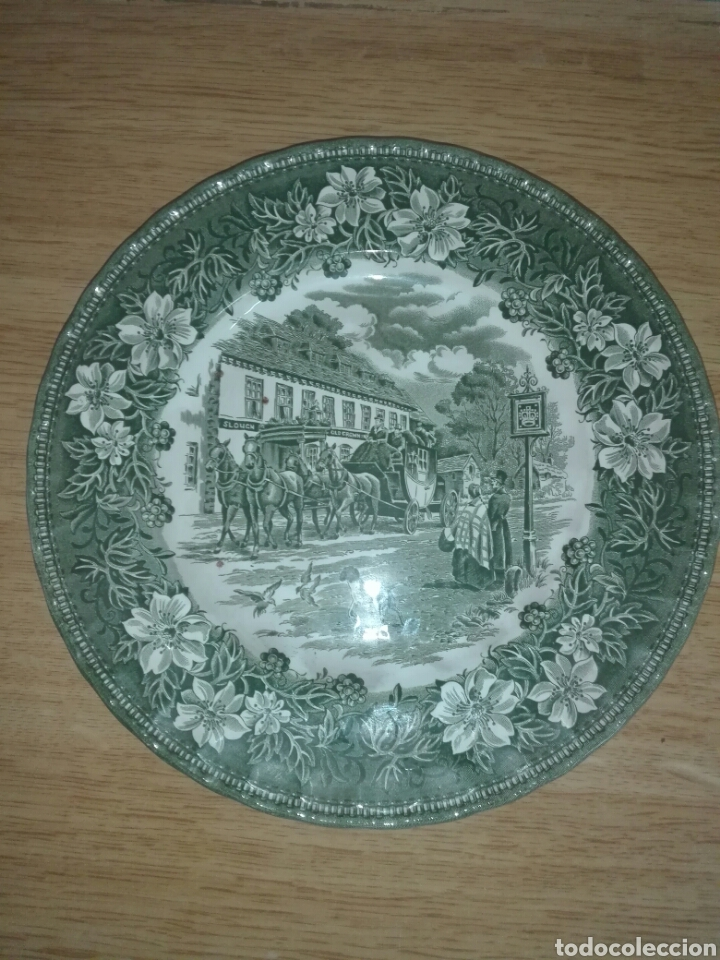 Antigüedades: 2 Platos de porcelana. - Foto 2 - 194172062