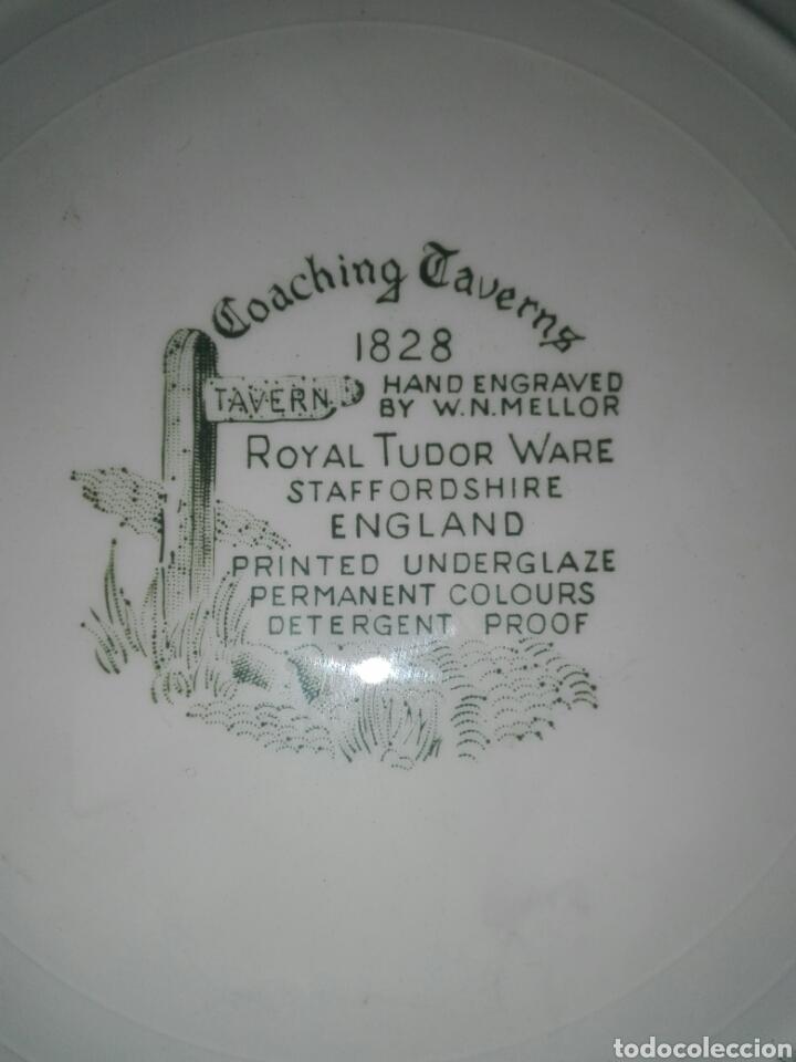 Antigüedades: 2 Platos de porcelana. - Foto 4 - 194172062