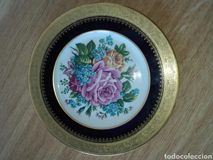 Antigüedades: 2 Platos de porcelana. - Foto 7 - 194172062