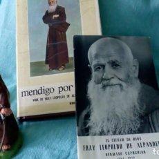 Antigüedades: FRAY LEOPOLDO DE ALPANDEIRE...LIBRO Y FIGURA. Lote 194408166