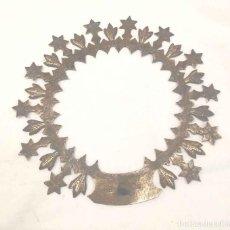 Antigüedades: CORONA PARA IMAGEN VIRGEN BRONCE AÑOS 40. MED. 13 CM. Lote 194428662